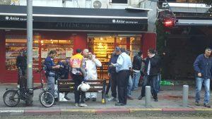 פיגוע הירי  ברחוב דיזינגוף בתל אביב - צילום דוברות מדא