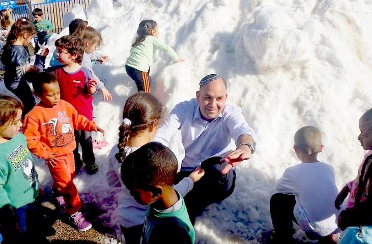 השלג חוזר ללוד.צילום דוברות העירייה