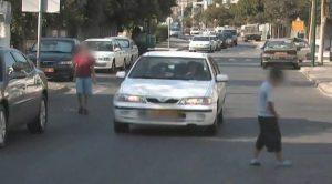 ילדים בכבישים.סכנה של תאונות דרכים.צילום באדיבות עמותת אור ירוק