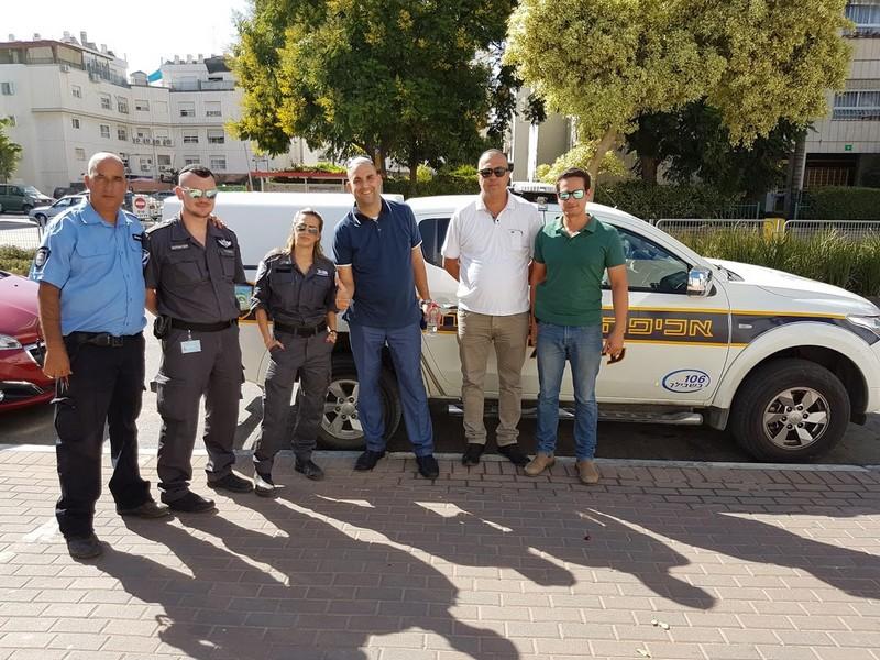 אחד מצוותי השיטור העירוני, יותר אכיפה יותר נחישות!.צילום דוברות עיריית לוד