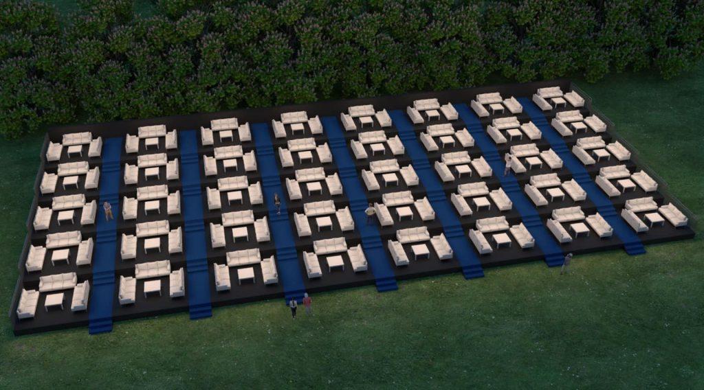 אמפי קפסולות של עד 10 אנשים