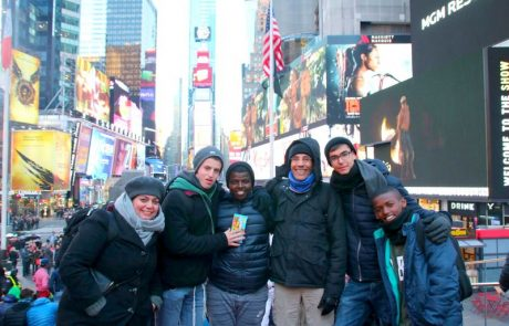 תלמידי הישיבה מלוד כובשים את ניו יורק