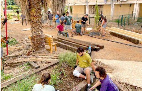כוח סטודנטיאלי: גינה קהילתית חדשה הוקמה בשכונת שרת בלוד