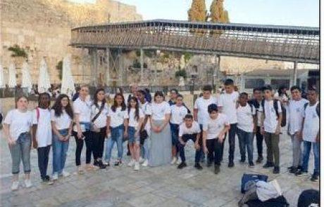 מאות בני ובנות מצווה מלוד והוריהם חגגו בירושלים