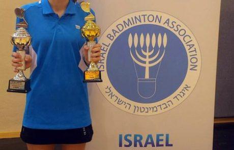 דנה דנילנקו מלוד אלופת ישראל לשנת 2016 בבדמינטון