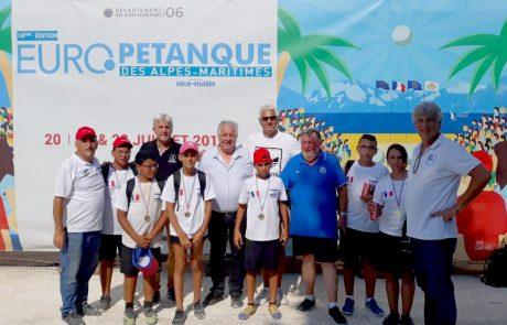 הישגים לשחקני מועדון פטאנק לוד בתחרות יורו-פטאנק בצרפת