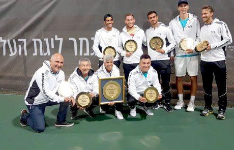 שנה שנייה ברציפות: לוד אלופת המדינה בטניס לשנת 2018