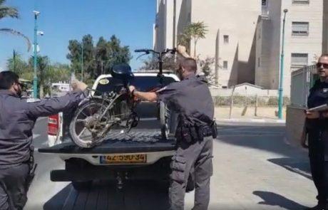 עיריית לוד מחמירה את הענישה כנגד רוכבי אופניים חשמליים