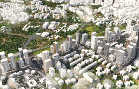 """תכנית התחדשות חדשה למרכז העיר: 3,570 יחידות דיור, 70,000 מ""""ר למסחר והפרדה מפלסית נוספת שתחבר את שני חלקי העיר"""
