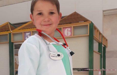 רופא ליום אחד: לכבוד פורים החליף מעוז ליקסנברג את רופאיו ליום אחד בלבד