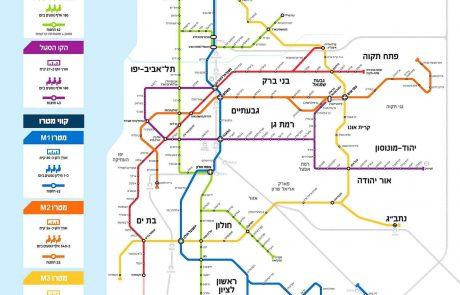 """ותמ""""ל הכריע: 5 תחנות מטרו לקו M1 העתידי יוקמו בתחומי העיר לוד"""