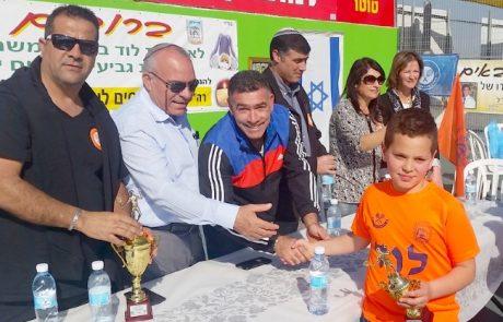 מקסים לוי הנכד זכה בגביע בטורניר לזכר ראש העיר המיתולוגי