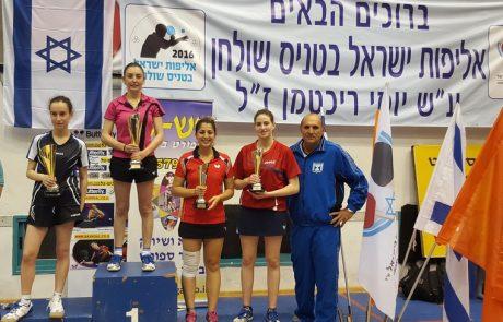 נטלי רובמן מהפועל לוד אלופת ישראל לנשים בטניס שולחן