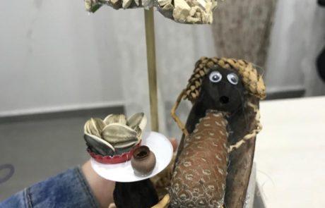 יוצרים בירוק – ילדי מועדונית מרכז עמידר רמלה השתתפו בסדנת פיסול ויצירה מחומרים מהטבע