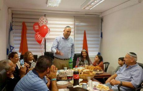 יאיר רביבו חגג 41:עובדי הלשכה ובני המשפחה ארגנו מסיבת הפתעה