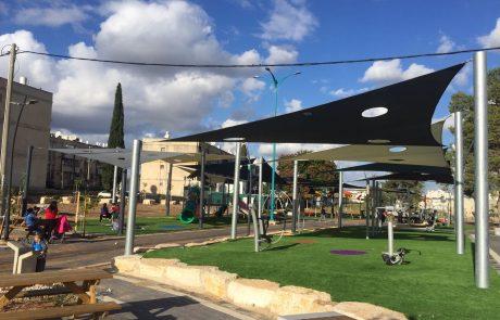 הסתיים שלב ההצללה בפרויקט פארק קהילות ישראל