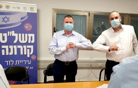ציון לשבח לראש העיר יאיר רביבו, על ניהול המאבק בקורונה בעיר לוד