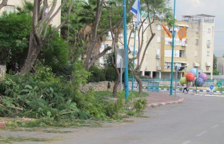 הגזם שחסם את רחוב גבריאל בלוד
