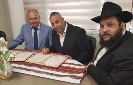 """קודם בנו בית משפט מחוזי, עכשיו יש גם """"סנגור"""": נחתם הסכם שיתוף פעולה בין לוד לברדיצ'ב שבאוקראינה"""