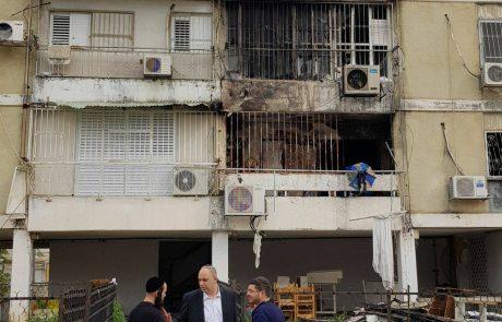 פרטים חדשים על השריפה בדירת מגורים ברחוב זבוטינסקי בעיר