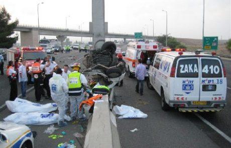 לוד:69 נפגעים בתאונות דרכים בשנת 2015