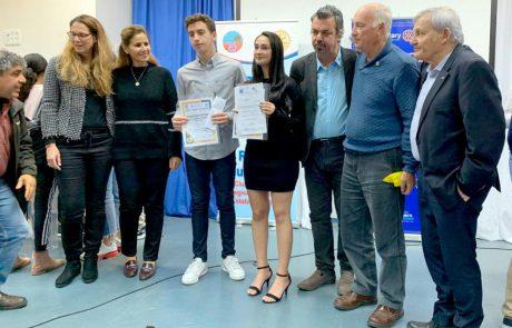 רוטרי לוד בחר את הנואמים הצעירים המצטיינים לשנת 2020 בלוד