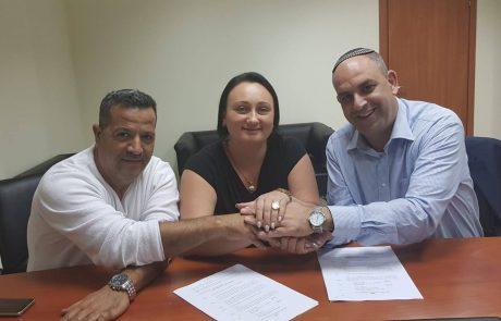 גברתי סגנית ראש העיר: רביבו חתם על הסכם קואליציוני ראשון