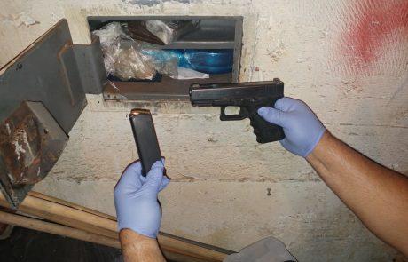 כלי ירי וסם מסוכן נמצאו במתחם מגורים בעיר