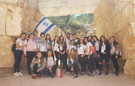תלמידי דרכא מקסים לוי בלוד לומדים ומסיירים בין שואה לתקומה