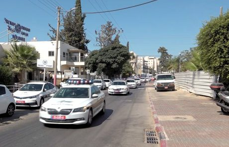 צפו בתיעוד: עשרות ניידות תנועה במבצע רחב היקף של משטרת ישראל בעיר לוד