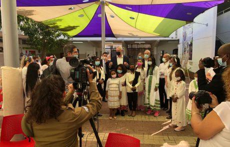 """רה""""מ החליפי בני גנץ ביקר בלוד לרגל חג הסיגד"""