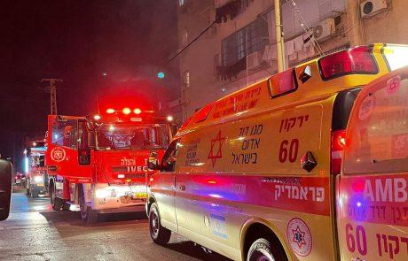 הלילה: שריפה ברחוב סטרומה – 10 פצועים. עשרות דיירים פונו מבתיהם