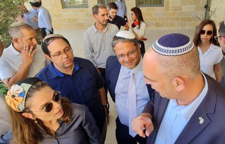 """חברי הכנסת של """"הציונות הדתית"""" בסיור בלוד: השבת המשילות ואפס סובלנות לטרור הלאומני"""