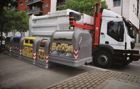 הרובוטים מגיעים למשאיות פינוי האשפה בלוד
